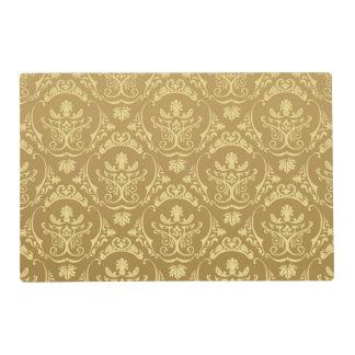 gold,vintage,damasks,floral,chic,elegant,trendy,gi placemat
