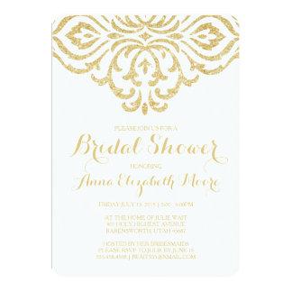 Gold Vintage Glam Elegant Bridal Shower Invitation