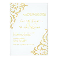 Gold Vintage Glamour Elegance Wedding Invitation