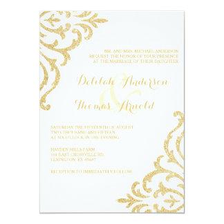Gold Vintage Glamour Elegance Wedding Invitation