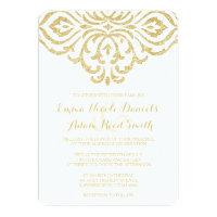 Gold Vintage Glamour Elegance Wedding Invitation 5&quot; X 7&quot; Invitation Card (<em>$2.31</em>)