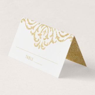 gold vintage glamour elegance wedding place card