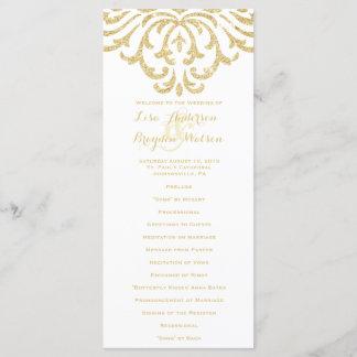 Gold Vintage Glamour Elegance Wedding Program