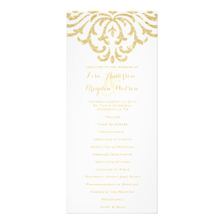 Gold Vintage Glamour Elegance Wedding Program