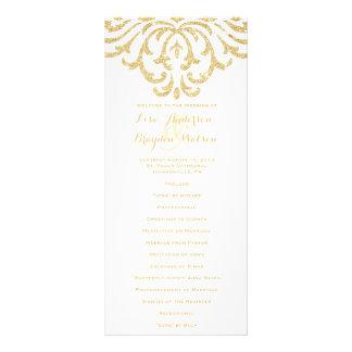 Gold Vintage Glamour Elegance Wedding Program Rack Card Template