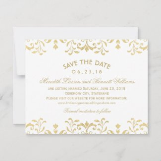Gold Vintage Glamour | Wedding Save The Date