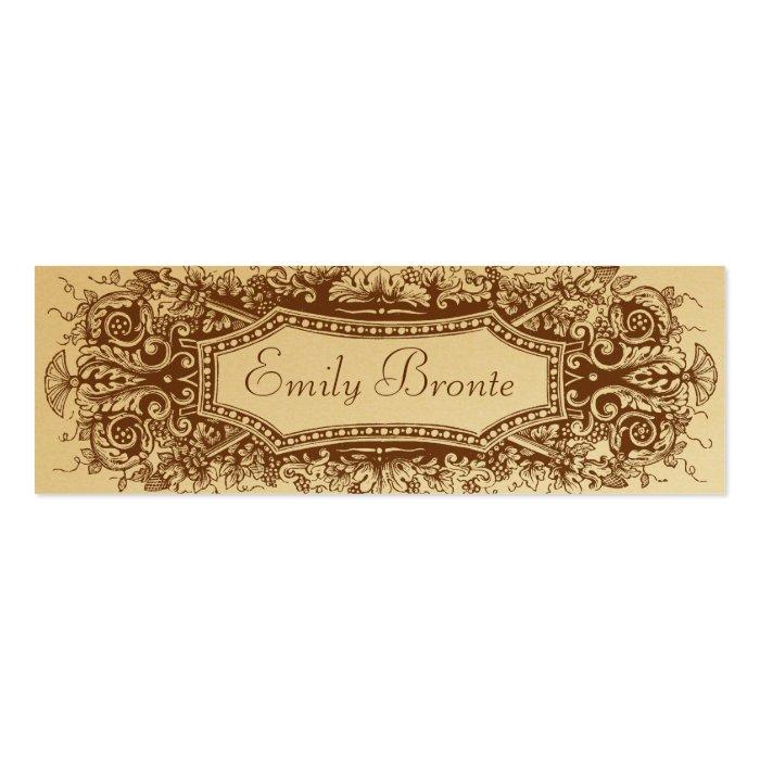 Gold Vintage Look Skinny Card #2