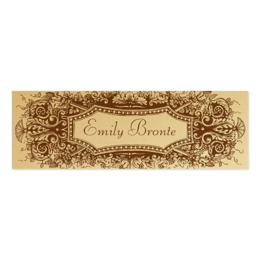 Gold Vintage Look Skinny Card #2 Double-Sided Mini Business Cards (Pack Of 20)