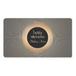 Gold Vintage  Makeup Artist Glamorous Chic Black Double-Sided Standard Business Cards (Pack Of 100)