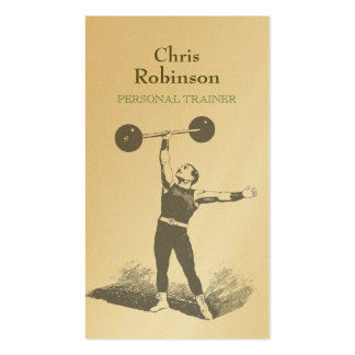 Gold Vintage Personal Trainer Business Card