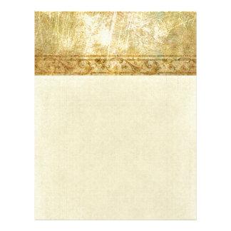 gold,vintage,rustic,worn,damask,pattern,floral,chi letterhead
