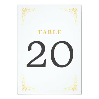 Gold Vintage Table Numbers