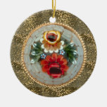 Gold Vintage Victorian broach Christmas Ornaments