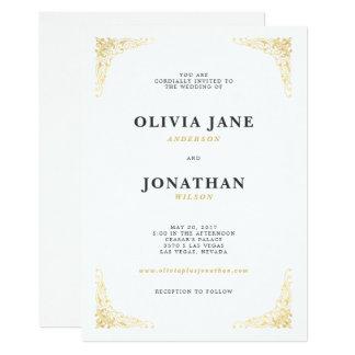Gold Vintage Wedding Invitation