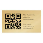 Gold visiting card (individually shapable) business card template
