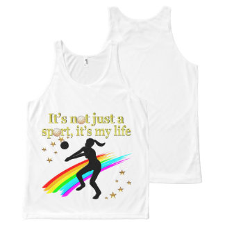 GOLD VOLLEYBALL IS MY LIFE DESIGN All-Over-Print TANK TOP