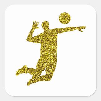 Gold Volleyball Sticker