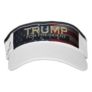 Gold w/Flag Donald Trump for President 2016 Visor