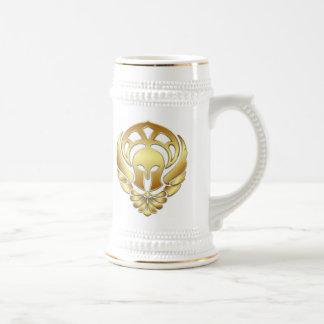 Gold Warrior Spartan Stein Mug
