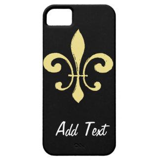 Gold Washout Fleur De Lis iPhone SE/5/5s Case