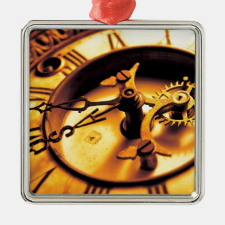 Gold Watch Face Metal Ornament