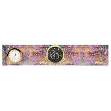 Gold watercolor and nebula mandala desk name plate