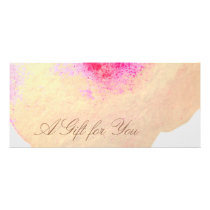 Gold Watercolor Floral Spa Salon Gift Certificate
