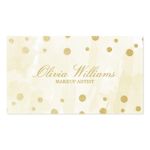 Gold Watercolor & Glitter Business Cards