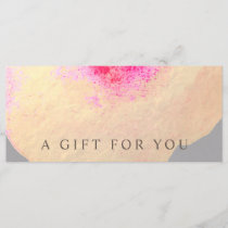 Gold Watercolor Large Floral Art Gift Certificate
