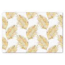 Gold Watercolor Palm Fronds Tissue Paper