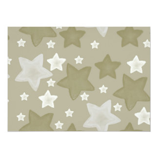 Gold Watercolor Stars baby shower Card