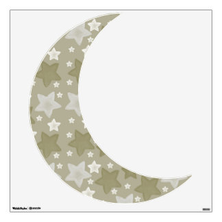Gold Watercolor Stars Moon Wall Sticker