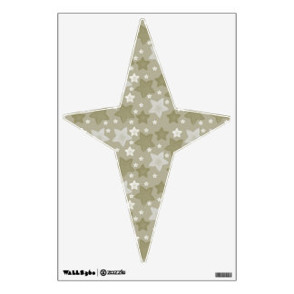 Gold Watercolor Stars Wall Graphic