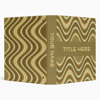 gold wave 3 ring binders