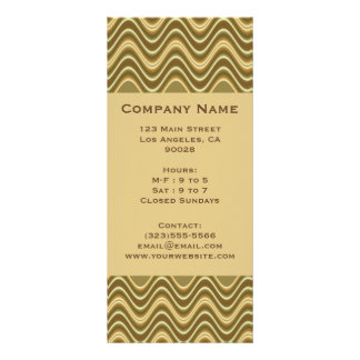 gold wave custom rack card