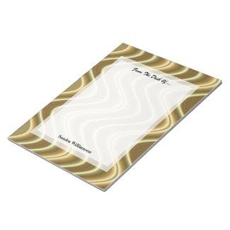Gold Wave Design Scratch Pads