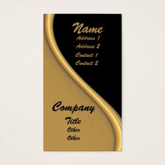 Gold Wave On Black Business Cards