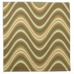 gold wave pattern design napkins