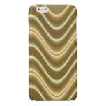 Gold wave pattern glossy iPhone 6 case