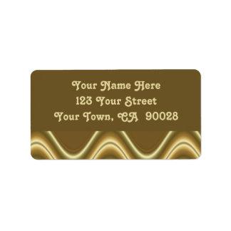 gold waves address label