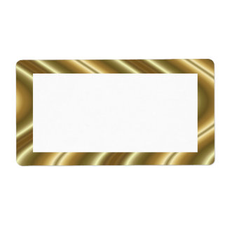 gold waves custom shipping label
