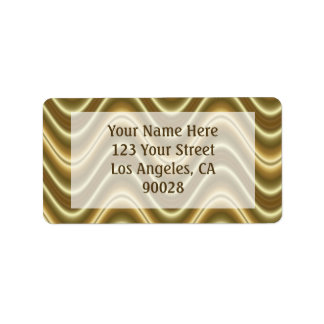 gold waves personalized address labels
