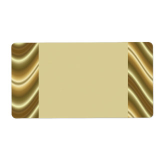gold waves personalized shipping labels