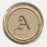 Gold Wax Seal Monogram at Zazzle