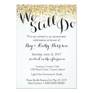 We do invitations announcements zazzle gold we still do wedding anniversary invitation stopboris Images
