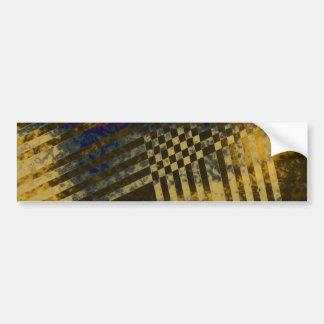 Gold Weave Bumper Sticker