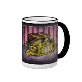 Gold Wedding Anniversary: Jupigio-Artwork.com Ringer Coffee Mug