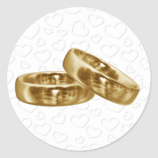 Gold Wedding Band Stickers