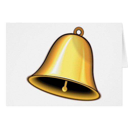 Gold Wedding Bells: Gold Wedding Bell Card