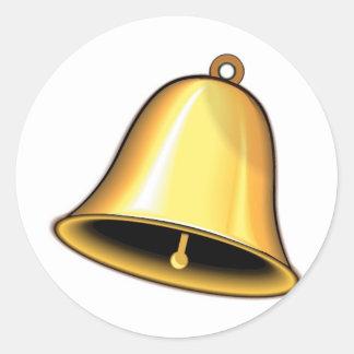 Gold Wedding Bell Classic Round Sticker